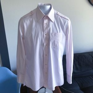 Gucci Mens' Light Pink Cotton Shirt Size 16